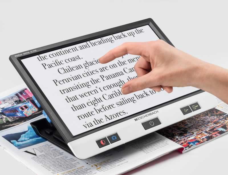La nouvelle loupe électronique VISOLUX XL HD dispose d un Zoom 2,2 à 22x et  d un vaste écran tactile 30 cm Idéale pour ceux qui recherchent un grand  champ ... e33f0e450401